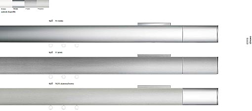 INTERSTIL Curtain rail Sail / wall fit - colours