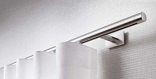 INTERSTIL Curtain rail Sinus / wall fit