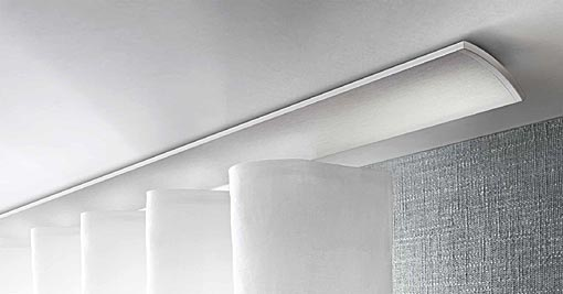 INTERSTIL curtain rail W2 for ripplefold curtain