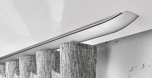 INTERSTIL Curtain rail W5 / ceiling fit