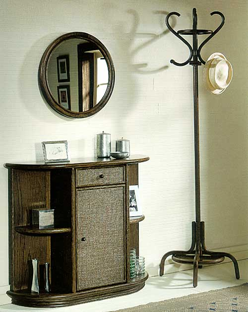 Rattandeco coat hook and mirror