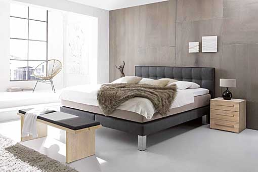 HASENA boxspring bed modern-comi-lilleL