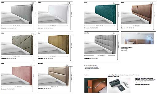 HASENA Dream-Line headboard for bed frames 3 sided - side rails and foot rail