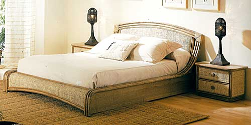 Wicker bed Rattandeco 0561
