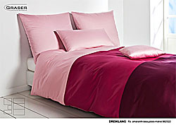 GRASER luxury bed linen - mako satin multi colour - model Dreiklang