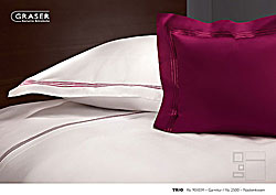GRASER luxury bed linen - mako satin plain colour - model Trio