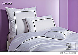 GRASER luxury bed linen - mako satin two colours - mod. Uno