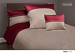 GRASER luxury bed linen - mako satin two colours - mod. Venlo