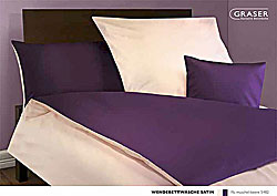 GRASER luxury bed linen - mako satin two colours - mod. Wende-Satin