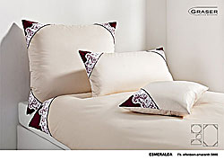 GRASER luxury bed linen - soft lace on mako satin - mod. Esmeralda