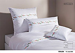 GRASER luxury bed linen - embroidery on mako satin - mod. Roeslein