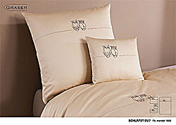 GRASER luxury bed linen - embroidery on mako satin