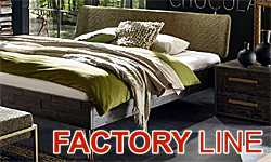 HASENA Factory-line - beds of acacia in vintage style