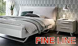 HASENA Fine-line - beds of solid beech, heart beech and walnut