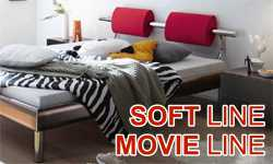 HASENA Soft-line/Movie-line series - modern beds of laminated MDF